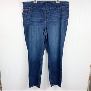 Chicos Platinum Jeggings Jeans Size 4 Whiskering